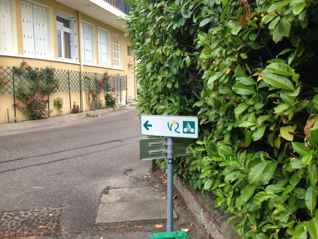 Bike Path Sign - Condrieu France