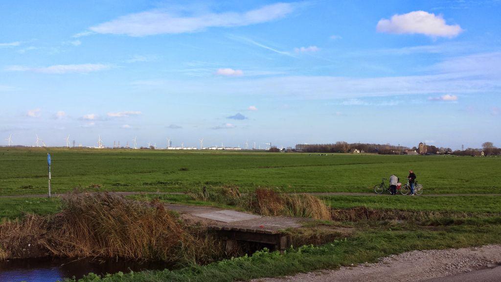 View of fields near Spaarndam