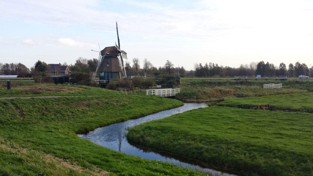 Windmill De Hommel Near Haarlem