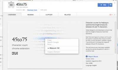 45to75 - Chrome Web Store