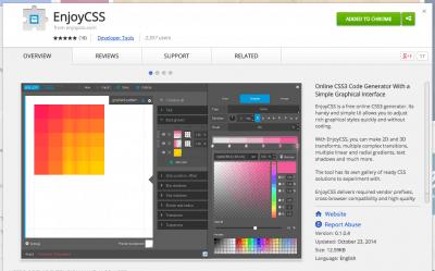 EnjoyCSS - Chrome Web Store