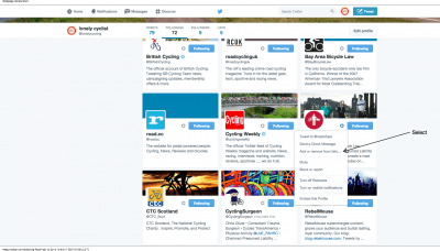People followed by lonely cyclist  @lonelycycling    Twitter