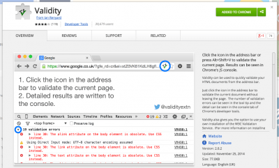 Validity - Chrome Web Store