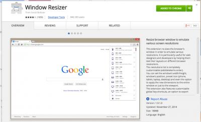 Window Resizer - Chrome Web Store