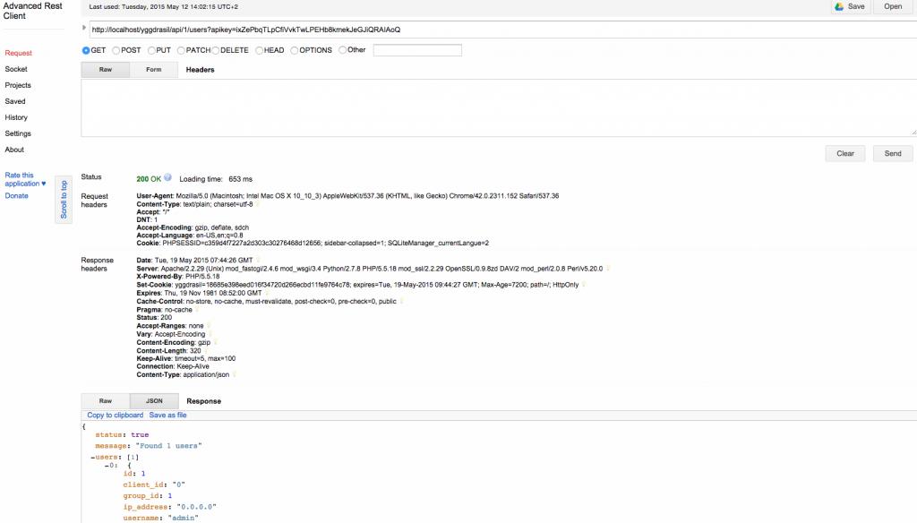 Chrome Advanced Rest Client Application