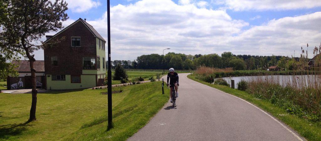 Cycling on Kromme Mijdrecht, De Hoef Netherlands