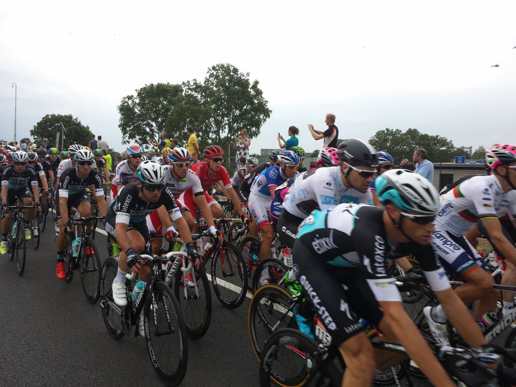 The peloton Tour De France 2015 stage 2 Gouda