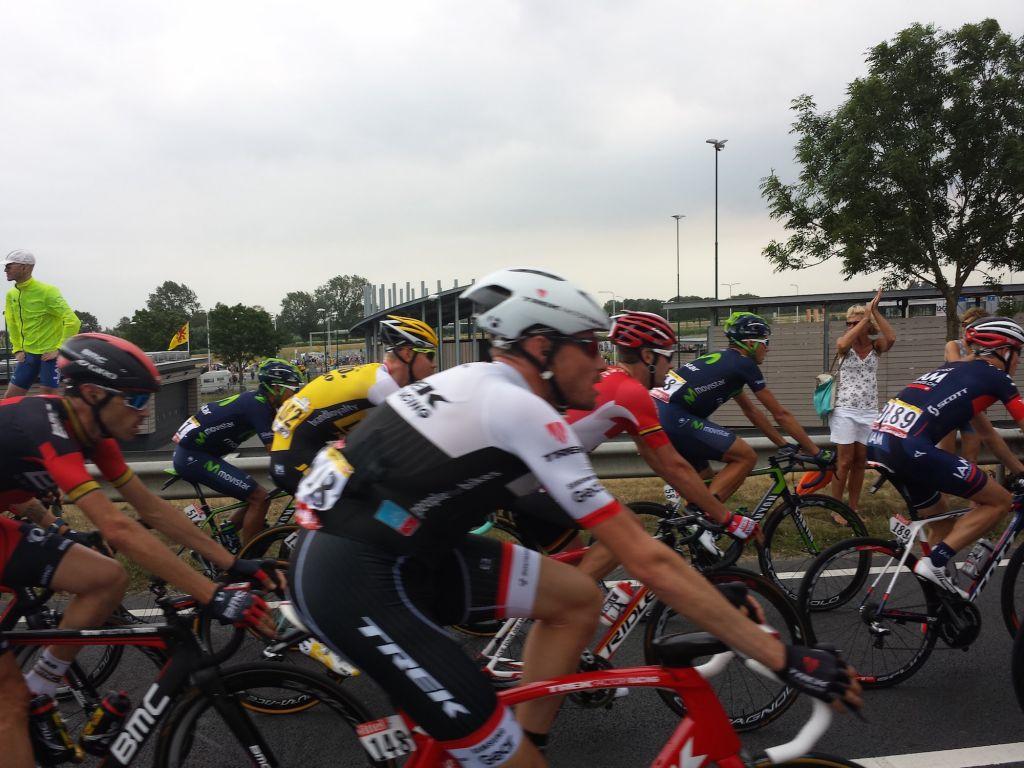 The peloton stage 2 Tour De France