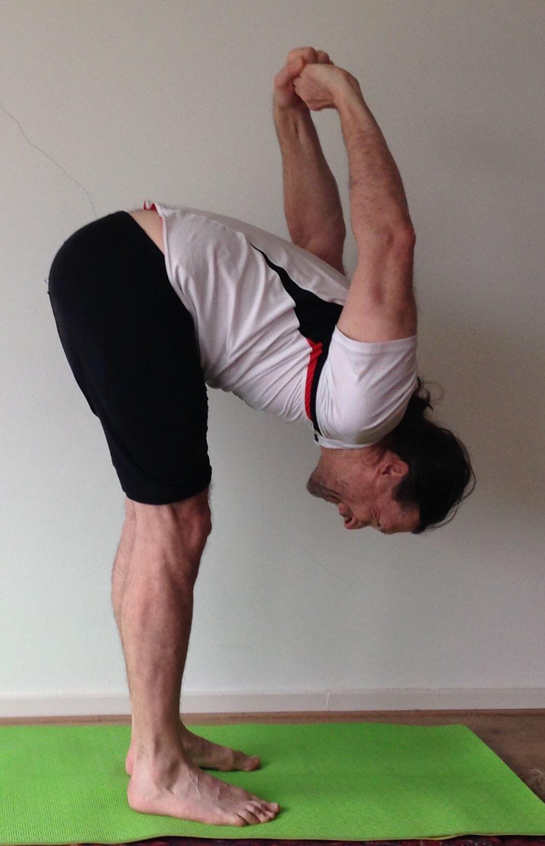 bike yoga pose