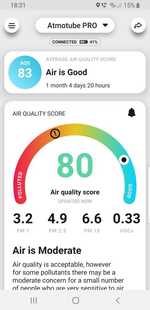 Atmotube Pro Mobile App